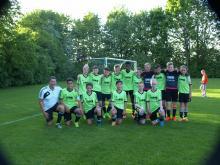 Carsten Bormann und seine D-1 nach dem Erringen der Kreisligameisterschaft