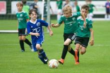Endlich wieder im Einsatz: F-Junioren des VfL gegen TSV Algesdorf im Jahnstadion