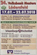 Ablaufplan des 24. Volksbankmasters des TuS Lüdersfeld