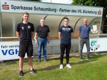 Vorstellung des neuen FSJ´ler Kevin Dewucki; v.l.n.r.: Nico Landfester,  Wolfgang Keusch, Kevin Dewucki u. Falko Rohrbach