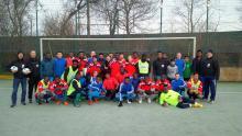 Gemeinsames Mannschaftsfoto FC Juventus Obernkirchen/Freizeitliga vom 17.02.2018