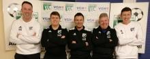 VfL-Nachwuchstrainer Leistungsbereich 2020/21:v.l.n.r. Oliver Schmöe, Marc-Oliver Brandt, Stefan Dakic, Mathias Scholz, Lennart Meyer