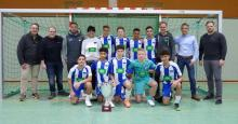 Der Sieger des 19. VGH-Cup2020: Hertha BSC mit den  der VGH-Vertretern und VGH-Vertriebsleiter Stefan Mogwitz