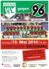 Plakat VfL Bückeburg gegen Hannover 96