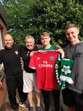 Verabschiedung FSJ´ler Leon Großkelwing u. Begrüßung von Nachfolger Nico Landfester durch den Vorstand der Fußballabteilung