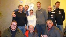 Auslosung VGH-Cup2020:H.v.l.:Raphael Kraus, Uwe Gassmann, Ornina David, Christoph Stork, Falko Rohrbach, Lennart Meyer. V.v.l:Moritz Everding, Jens Everding, Marco Krey