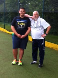 Augustuín Hamzaj und Trainer Hardy Herzog